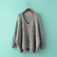 Wholesale Women Sweaters Pullover Fashion New Autumn Winter Long Sleeve Warm Stripe Round neck Sweater Clothing AA SO