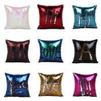 Wholesale Sequins throw Pillow Case Best New Created Hot DIY Two Tone Glitter Sequins Throw Pillows Decorative Cushion Case Sofa Car Covers b571