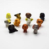 Wholesale 120Pcs different kinds super mini artificial pet dog Animals model for kids Education Toys gift