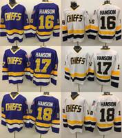 Wholesale 2017 Winter Classic Ice Hockey Jerseys Men s Chiefs Jack Hanson Steve Hanson Jeff Hanson Ice Hockey Jerseys Free Drop Shipping