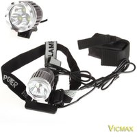 Wholesale 3T6 Headlamp Lumens x C XM L T6 Head Lamp High Power LED Headlamp Head Torch Lamp Flashlight Head charger Battery