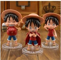 Wholesale 11cm one piece Luffy action figures model doll toys Car doll ornaments cartoon decoration anime figure play doll toy for kids mini figures