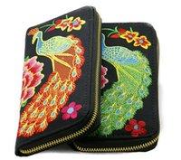 Tissu de broderie ethnique Moible sac de téléphone portable de poche de l'argent / Dibs / changement de portefeuille femmes Lady New Designer Divers / Mess Kits Porte-monnaie