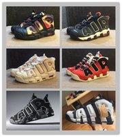 basketball hoops height - 2016 Big Air More Uptempo OG Olympic Varsity Red Asia Hoop Pack White Gum Basketball Shoes For Men Women Pippen Sport Sneakers Trainers