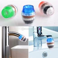 Wholesale MINI Home Coconut Carbon Cartridge Faucet Tap Water Clean Purifier Filter E00679 FASH