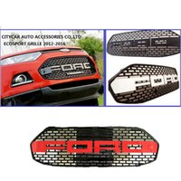 Wholesale HIGH QUALITY ECOSPORT F150 STYLE LOOKS FRONT GRILL RAPTOR BLACK LIT GRILLE GRILL