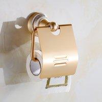 Wholesale Jieshalang The bathroom toilet paper box gold aluminum space bathroom toilet paper holder creative roll holder