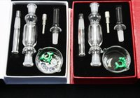 Wholesale 2017 Nectar Collector KitHoney Comb Nector Kit With Domeless Titanium Quartz Nail mm Oil Rigs Glass Bongs Glass Water Pipes Oil Recycler