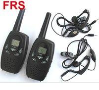 Vente chaude radio portable T628 Walkie Talkie avec casque UHF 400-470MHz 1W 22CH VOX Radio bidirectionnelle portable avec écouteurs 2pcs