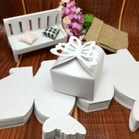 Papier rattache France-100 pièces de papier découpage Papillon de noce de mariage boîte de chocolat boîtes cadeaux de mariage pour les invités de mariage souvenir Free Ship