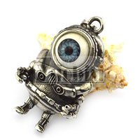alien red eyes - Super Popular Fantasy One Big Horrible Eye Alien Stainless Steel Pendant Blue Eye and Red Eye Good Quality and Competitive Price for bikers