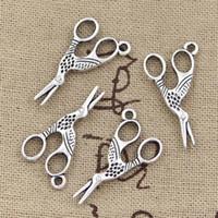 al por mayor encanto de la pulsera de tijera-Venta al por mayor-99Cents 8pcs encantos sewings tijeras 28 * 15 mm de antigüedad haciendo pendiente encajar, plata tibetana de la vendimia, collar de pulsera de bricolaje