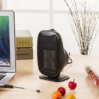 Wholesale DHL only Mini Warm Heater Portable Desk Fan Fire protection Materials Handheld Electric Heating Device in stock