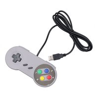 El juego retro para el USB de SNES ató con alambre el regulador clásico de la palanca de mando de GamePad para la PC de Windows seis botones de Digitaces 50pcs / lot DHL
