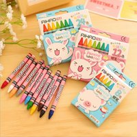 Wholesale B22 Box Colored Kid Baby Pastel Drawing Wax Color Pencils for Drawing Stationery Kids Gift