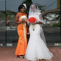 Reference Images arab bridal - Sheer Scoop Mermaid South African Wedding Dresses With Applique Lace Arab Bridal Gowns Detachable Belt Plus Size Vestido de noiva curt