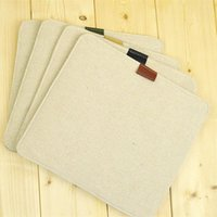 Wholesale linen mouse pad custom mouse pad simple style linen cover for mouse pad for DHL