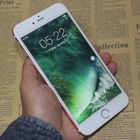 bar gold storage - Fingerprint android goophone i7 Plus unlocked smartphone Quad Core MTK6580 GB Storage quot HD MP G Metal Cell Phones