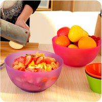 Wholesale Home Kitchen Vegetables Basin Mixing Bowl Environmental Food grade PP Plastic Fruits Vegetables Salad Bowl Nuts Snack Bowls