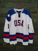 Wholesale 1980 Miracle On Ice Team USA Mike Eruzione Hockey Jersey White