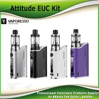 attitude free - Original Vaporesso Attitude Starter Kit Attitude W TC Box Mod with EUC coil and ml ml Estoc Tank Atomizer genuine DHL Free