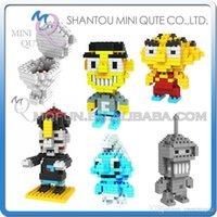 benders toys - DHL Mini Qute LOZ Bender Smurfs Chinese Vampire Toilet plastic building block brick model Action Figures educational toy