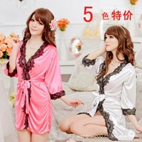Sexy Costumes Baby Dolls Men 2016 Sexy Costumes Babydoll Lovely Skirt Bathrobe Nightgown Belt Silky Sexy Pajamas Lingerie Wholesale And Uniform Temptation