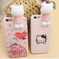 apple lies - D Pink Lie Prone To Lie Prone Doll Hello Kitty Silicone Women Cell Phone Cases iPhone Plus Cell Phone Accessories