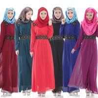 Wholesale The new Muslim women s dress Chiffon dress Fashionable dress