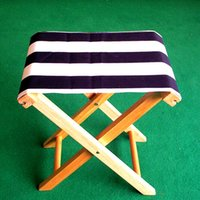 Wholesale pc Natural Wood Folding Chair Small Outdoor Chair Fishing Chair Wooden Furniture Suit For Carry Out
