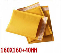 160 * 160 + 40mm / pc burbuja de papel de 50pcs / lot kraft Material sobres sobres acolchados de correo al por mayor