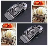 Wholesale Egg Cutting Tools Stainless Steel Kitchen Egg Slicer Mushroom Tomato Chopper Cutter Multifunction Slicer Sectioner Eggs Cooking Cutter Tools