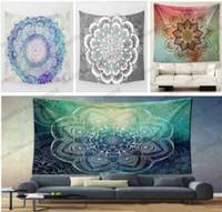 Wholesale 2017 NEW Designs cm Bohemian Mandala Beach Tapestry Hippie Throw Yoga Mat Towel Indian Polyester Beach Shawl Bath Towel MYY