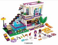 Wholesale 619Pcs NEW Bela Friends Series Livi s Pop Star House Building Blocks Livi Andrea mini doll figures Toy Legoed