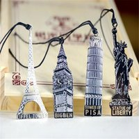 Wholesale London Elizabeth Eiffel Tower Statue Of Liberty Metal Book Markers Metal Bookmark For Books Paper Clips Office Supplies