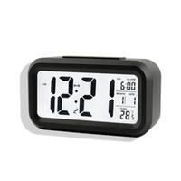 Wholesale Digital Desk Clocks Calendar Thermometer Large LCD Table Clocks Multi functional Alarm Clock LED Display Electronic Desk Clock