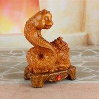 achat en gros de ornement de serpent-Le nouvel ameublement à la maison Décoration artisanale 12 Zodiac Lucky Snake Zodiac Ornaments
