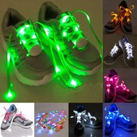 beads family - 100piece pairs LED Nylon Lamp beads Flashing Shoe Lace Fiber Optic Shoelace Luminous Shoe Laces Light Up Flash Glowing Shoeslace