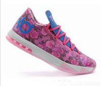 Kd6 perles tante France-Chaussures de basket-ball des hommes de kd 6 AUNT PEARL VI de qualité supérieure chaussures de sport de kd6 avec la boîte de chaussures