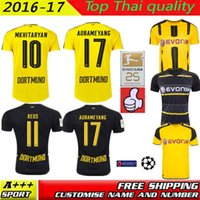 Wholesale SIZE S XL top Quality REUS Jersey New DortMuNd Football Trikot Home AUBAMEYANG REUS RAMOS Camisa Bumblebee football Shirt