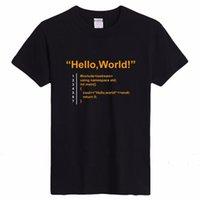 basics linux - Java Programmer Computer Hello World Code Linux Geek Team Wear T Shirts Men Short Sleeve Cotton Basic T Shirt Gifts Tee Cheap sold