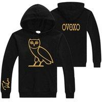 animal naturals custom - New Arrivals Fashion Men Women Black Hoodies Biker Jacket Custom Unisex Jersey Cotton Fleece Owl Pattern Design
