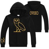 Wholesale New Arrivals Fashion Women Men Black Hoodies Biker Jacket Custom Unisex Jersey Cotton Fleece Owl Pattern Design