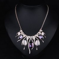 Wholesale Women Clothing Accessories Necklace Pendant All match Western Style Elegant and Pleasant Clavicle Short Chain Jewelry as Christmas Gifts