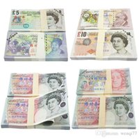 Wholesale 5 GBP Paper Money Bank Set Training Collect Learning Banknotes