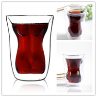 Wholesale NEW Creative Women Body Shape Vodka Whiskey Shot Glass Cup Drinking Ware Home Bar Glass Cup Mug Beer Wine Glass Party Favor