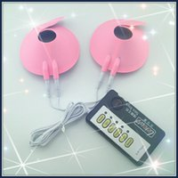 Wholesale Electric shock Breast cups kits light version electric breast cups nipple electric stimulation for women