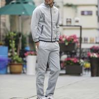 Wholesale Men s Fashion Sports Suit Men s Leisure Sports Suit Comfort Loose T shirt Pants Set