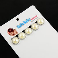alloy faceplate - Vintage alloy pearl buckle DIY handmade jewelry hair jewelry accessories material faceplate bow drill disc