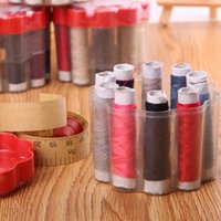 Wholesale New Sytyle Home Darn Mended Sewed Hussif Workbox Multifunctional Needlework Scissors Thimble Needle threaders Suits